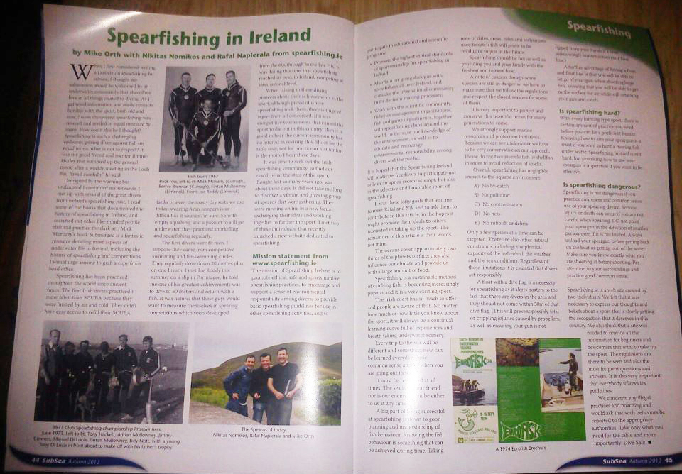 spearfishing subsea magazine ireland