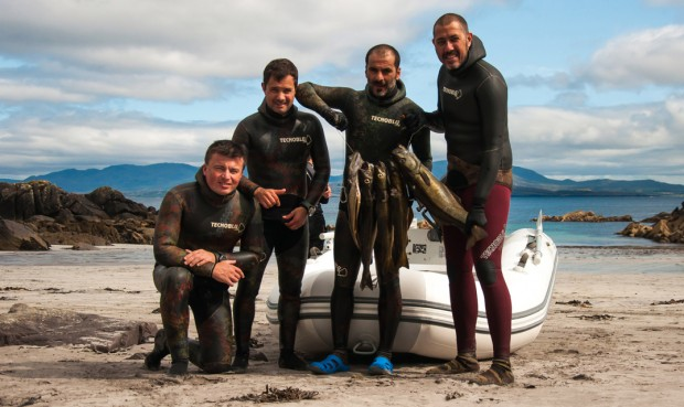 Spearfishing with Tecnoblu Team in Ireland