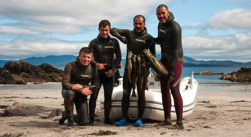 Spearfishing with Tecnoblu Team in Ireland